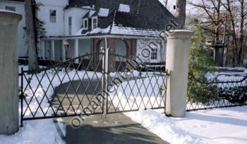 Driveway Gates With Custom Family Crest Made By Mueller