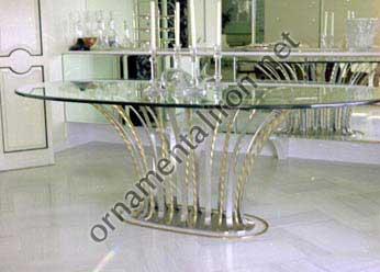Mueller Ornamental Iron Furniture Custom Made Dining Room Glass